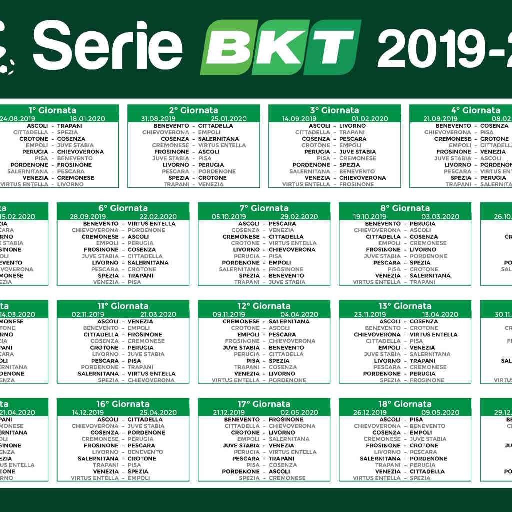 Campionato Serie A Calendario.Campionato Serie B Calendario Calendario 2020